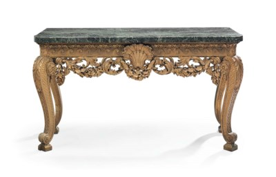 AN ENGLISH GILT-DECORATED SIDE