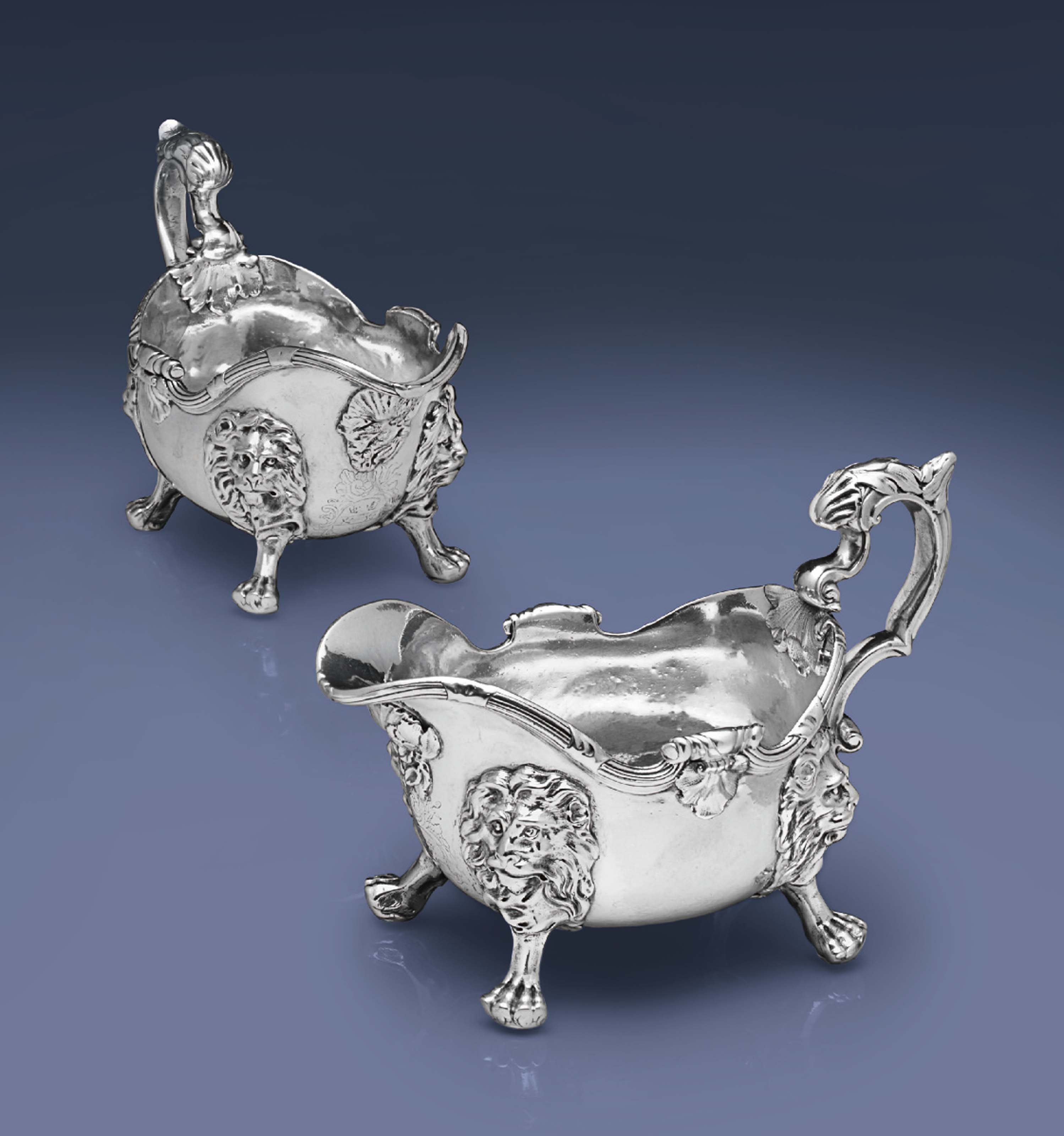 A FINE PAIR OF GEORGE II SILVE