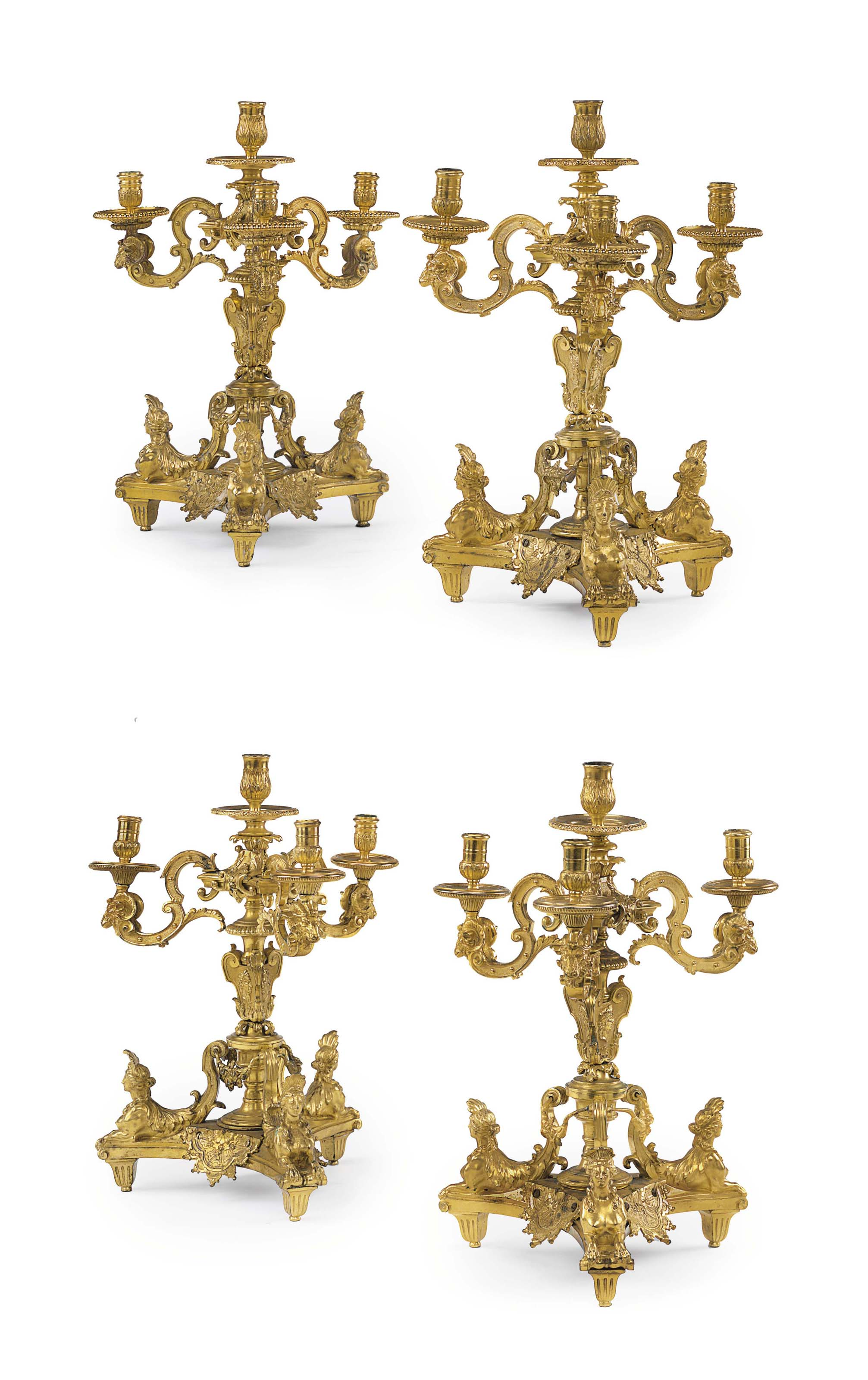 A MATCHED SET OF FOUR FRENCH O