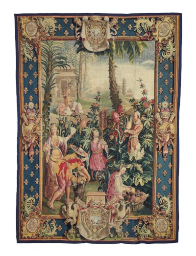A FRENCH CHINOISERIE TAPESTRY