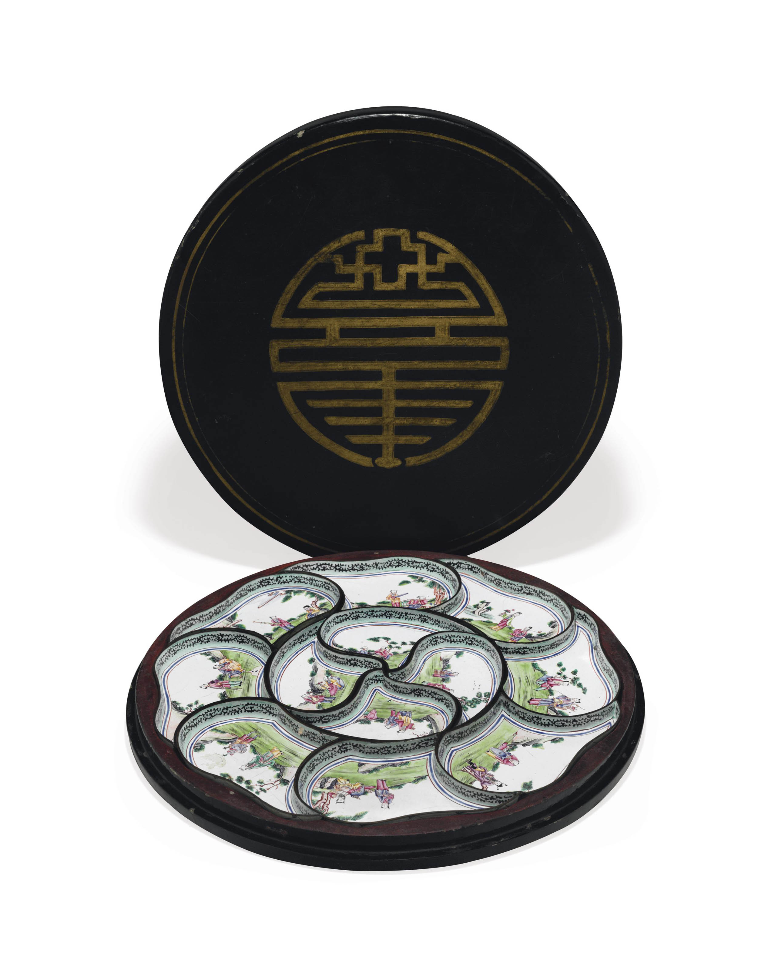 A CHINESE 'CANTON ENAMEL' SWEE