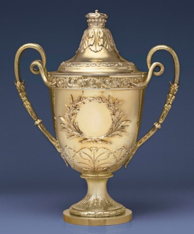 A VICTORIAN SILVER-GILT CUP AN