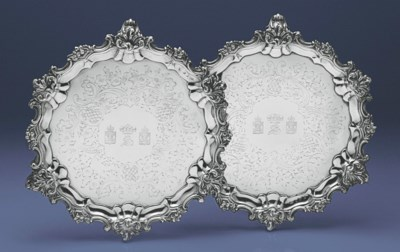 A PAIR OF VICTORIAN SILVER SAL