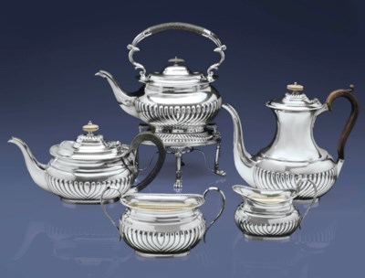 A VICTORIAN SILVER FOUR-PIECE