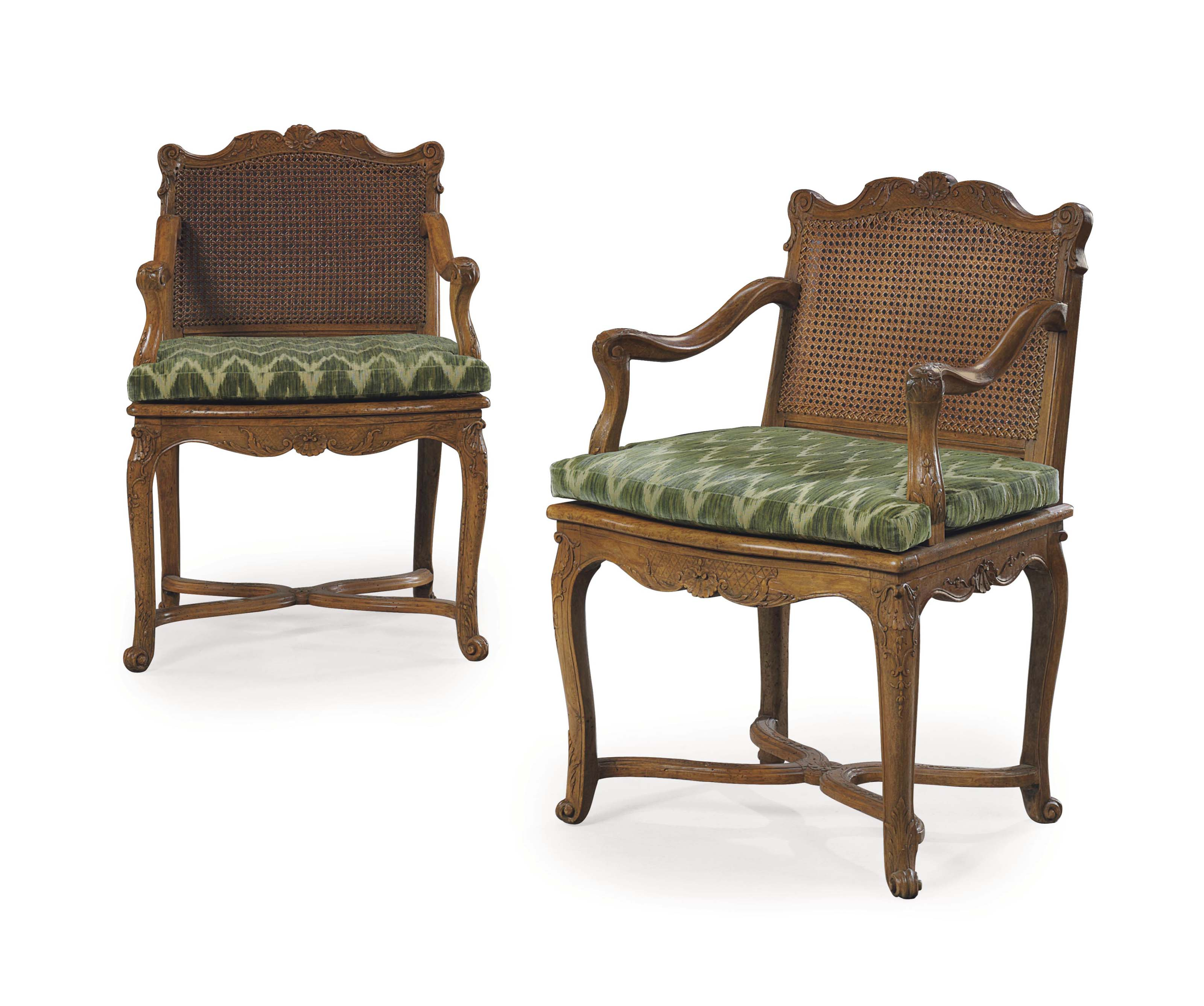 A PAIR OF REGENCE WALNUT AND B