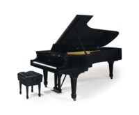 A STEINWAY MODEL D EBONIZED CONCERT GRAND PIANO