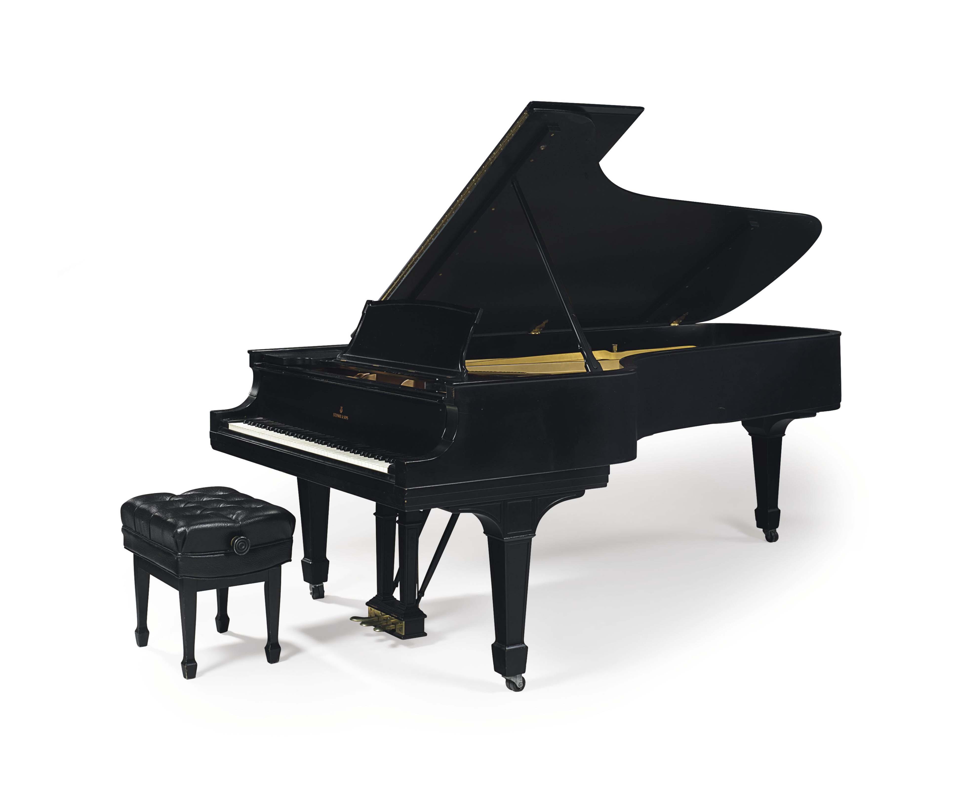 A STEINWAY MODEL D EBONIZED CONCERT GRAND PIANO