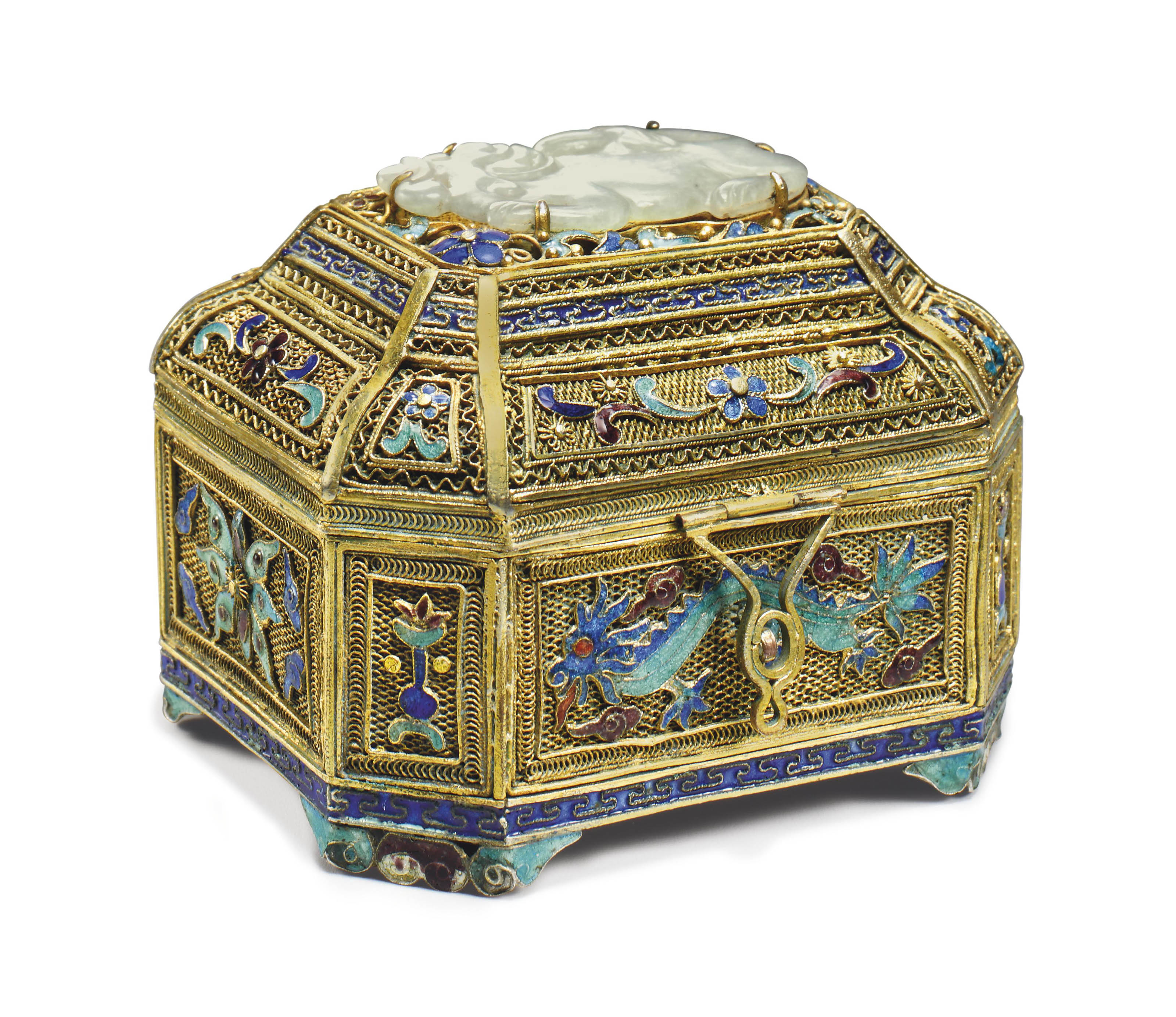 Small Filigree Box Wiring Diagrams This Is What In The Wallgt Http Wwwrenovationheadquarterscom I A Enamel And Jade Decorated Gilt Metal Cover Rh Christies Com
