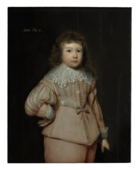 Portrait of a young boy thought to be Lucius Cary, 3rd Viscount Falkland, three-quarter-length