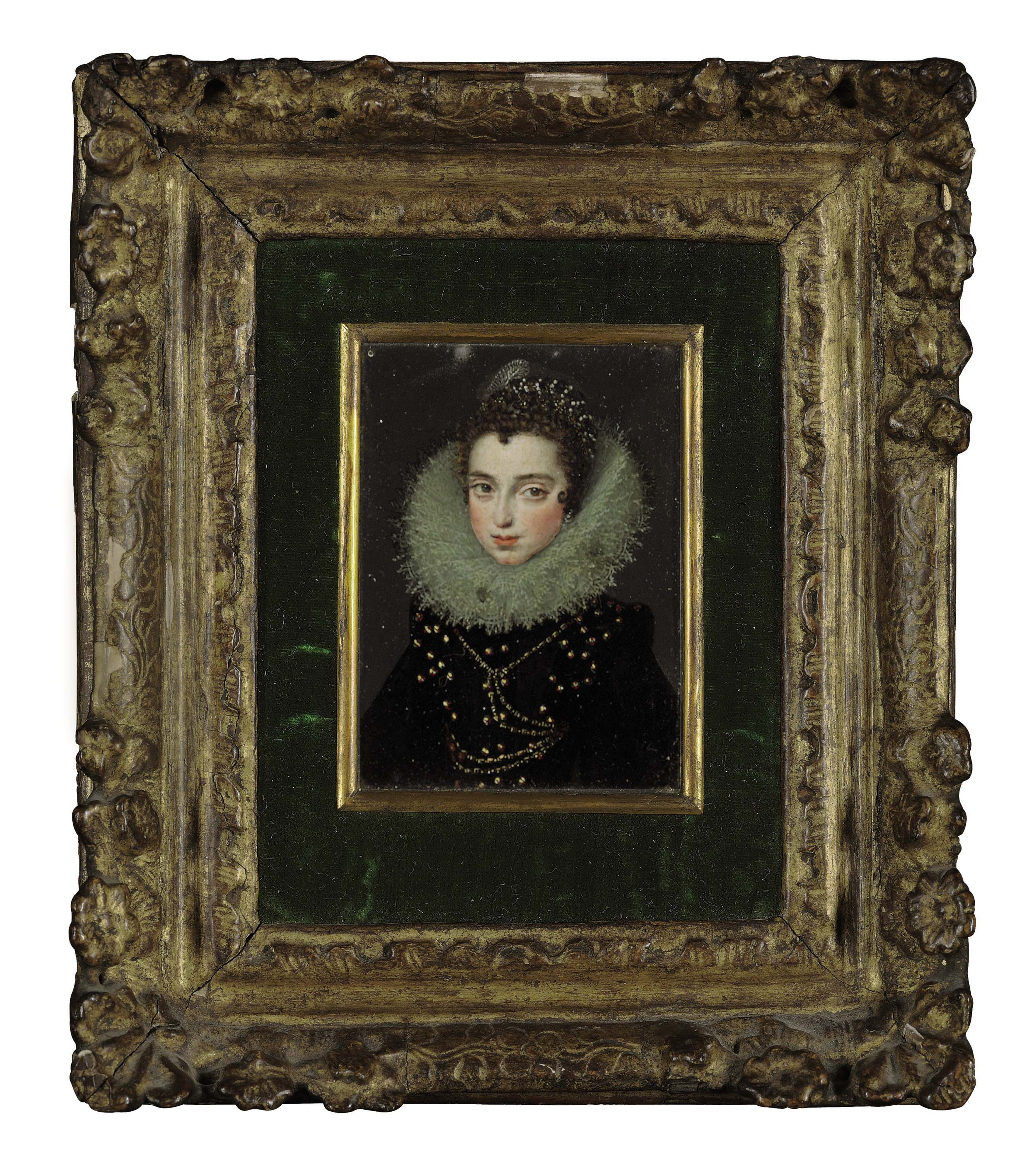 Portrait of a lady, half-length, in black with a ruff