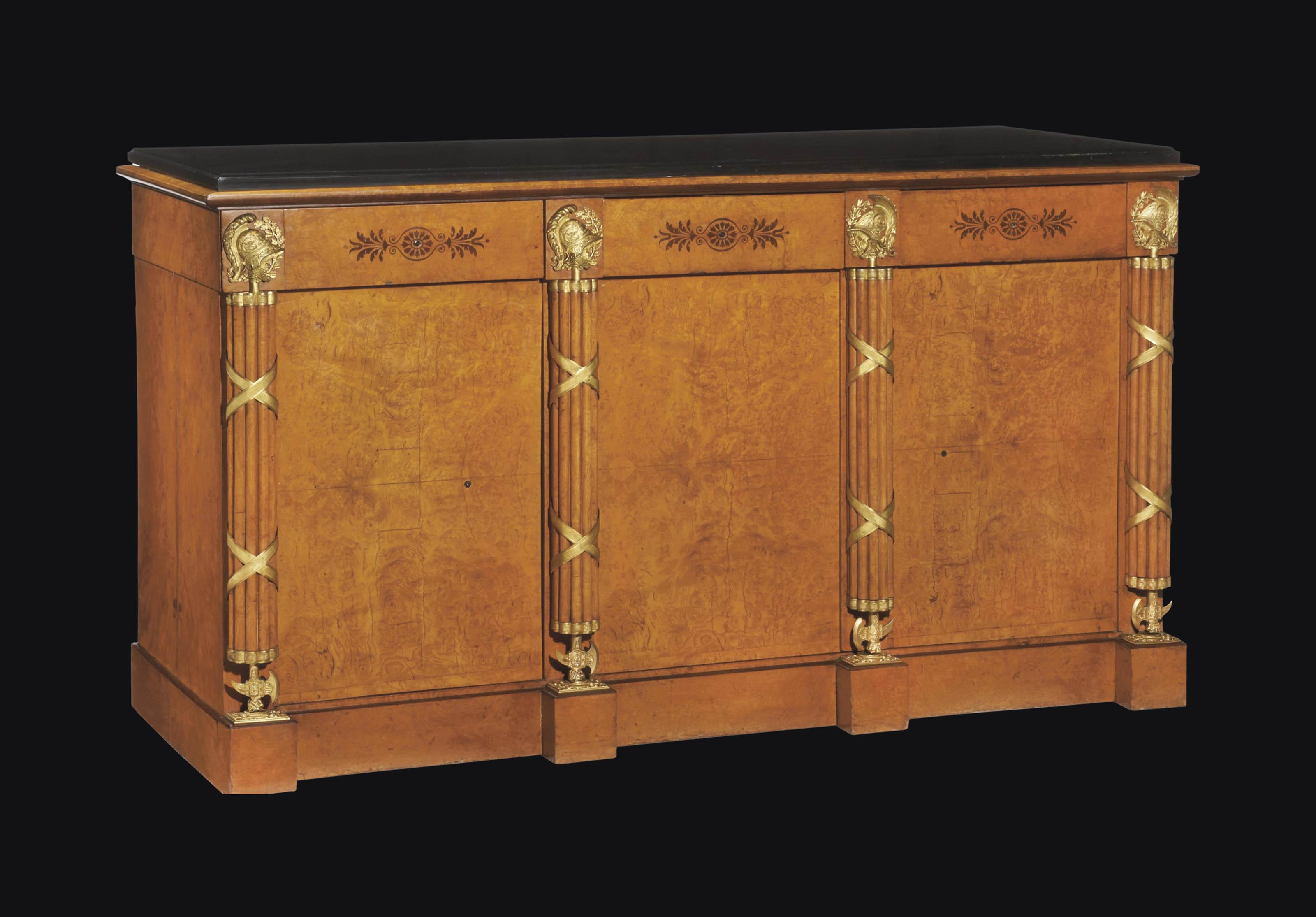 a restauration ormolu mounted burr elm meuble d 39 appui circa 1815 1825 attributed to jean. Black Bedroom Furniture Sets. Home Design Ideas