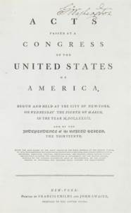 WASHINGTON, GEORGE, President.