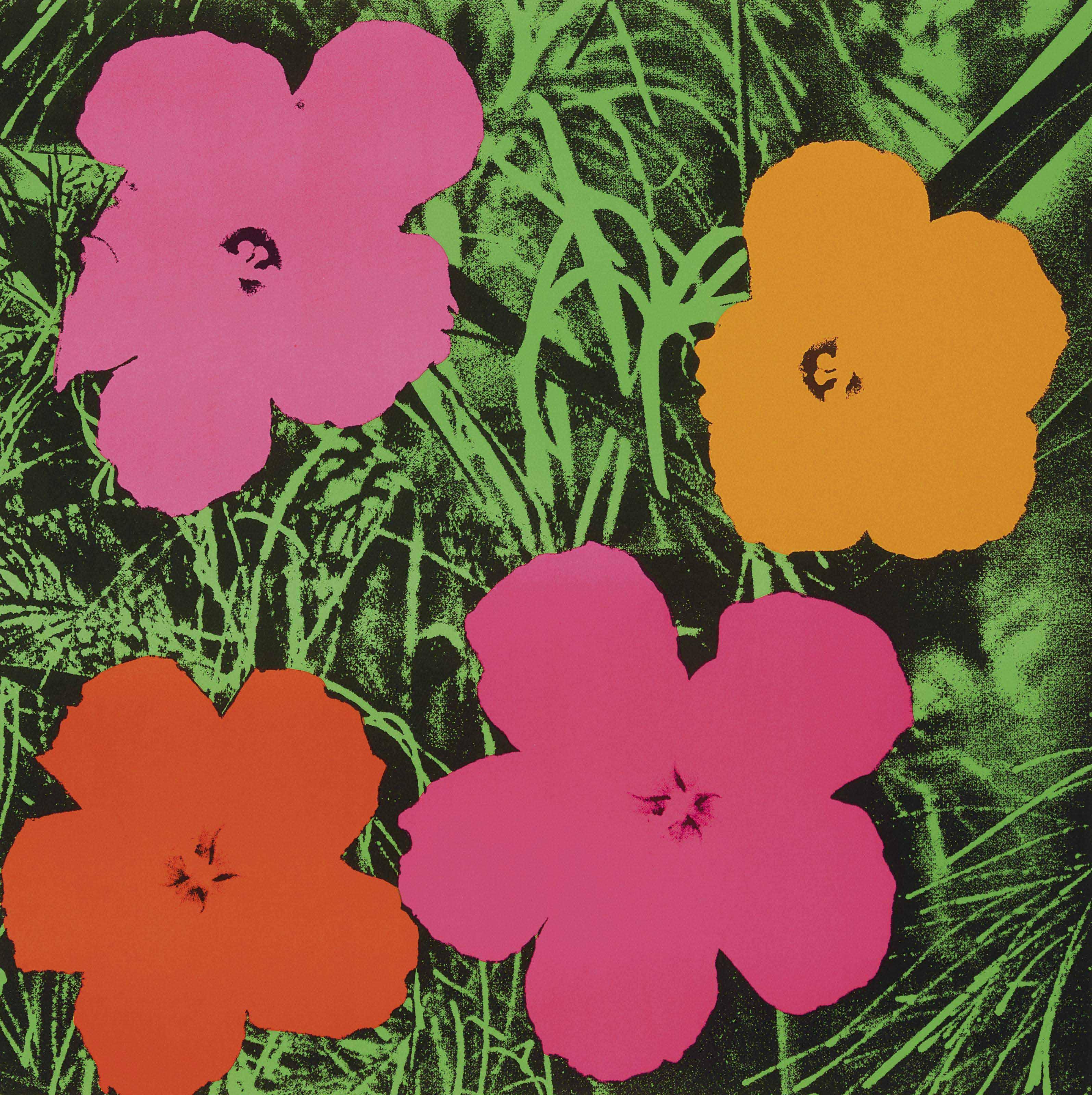 ANDY WARHOL , Flowers ...
