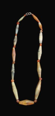A BACTRIAN AGATE AND CARNELIAN