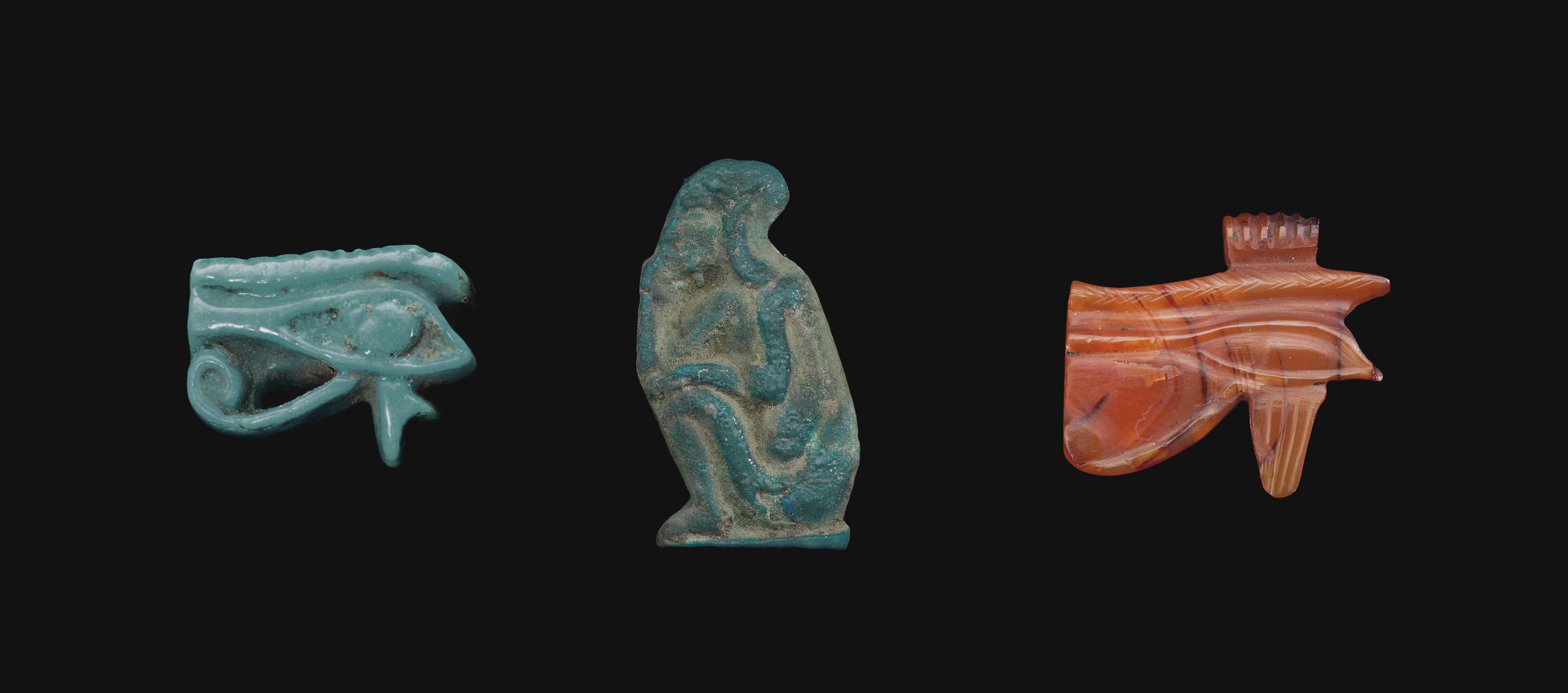 THREE EGYPTIAN AMULETS