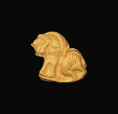 A SCYTHIAN GOLD APPLIQUÉ