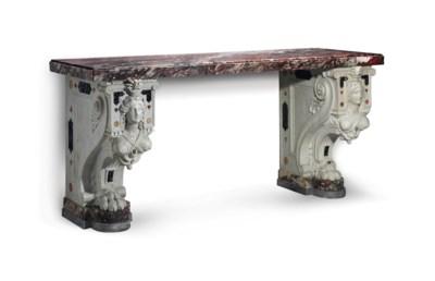 TABLE CONSOLE MONUMENTALE DU X