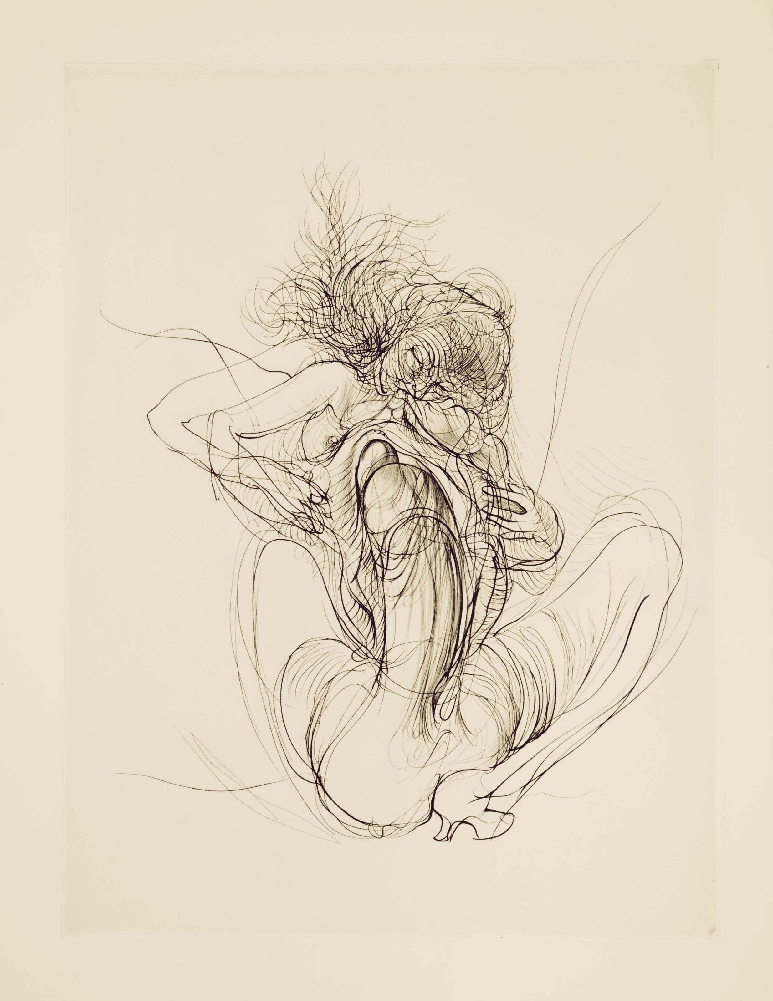 [BELLMER] -- LAUTRÉAMONT, comte de (pseud. de Isidore DUCASSE 1846-1870). Les Chants de Maldoror. Gravures originales de Hans Bellmer. Genève: Grafik Europa Anstalt, 1971.