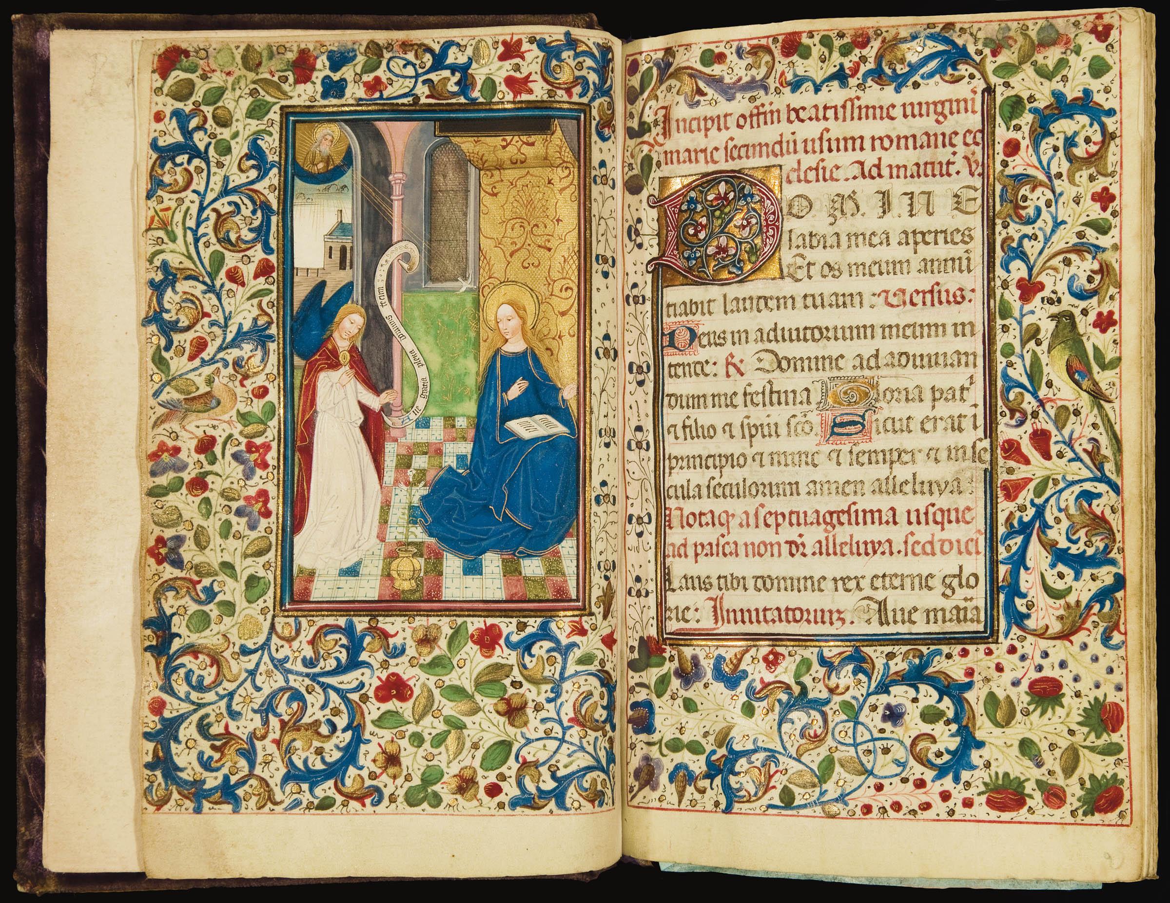 LIVRE D'HEURES, à l'usage de Rome, en latin, MANUSCRIT ENLUMINÉ SUR VÉLIN