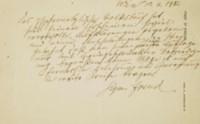 FREUD, Sigmund (1856-1939). Brouillon autographe signé de l'introduction de la 3e édition du Das Psychoanalytische Volksbuch, une page sur un feuillet in-8 oblong (143 x 228 mm), papier à en-tête de l'auteur sous l'adresse de Vienne, situé et daté du 10.6.1932. (Trace de pliure.)