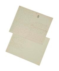 """SAINT-EXUPÉRY, Antoine de. Lettre autographe signée """"Antoine"""" adressée à Lucie-Marie Decour. Sans lieu ni date [Lisbonne ?, mi-septembre 1929]."""