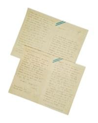 """SAINT-EXUPÉRY, Antoine de. Lettre autographe signée """"Antoine"""" adressée à Lucie-Marie Decour. Buenos Aires, sans date [fin 1929]."""
