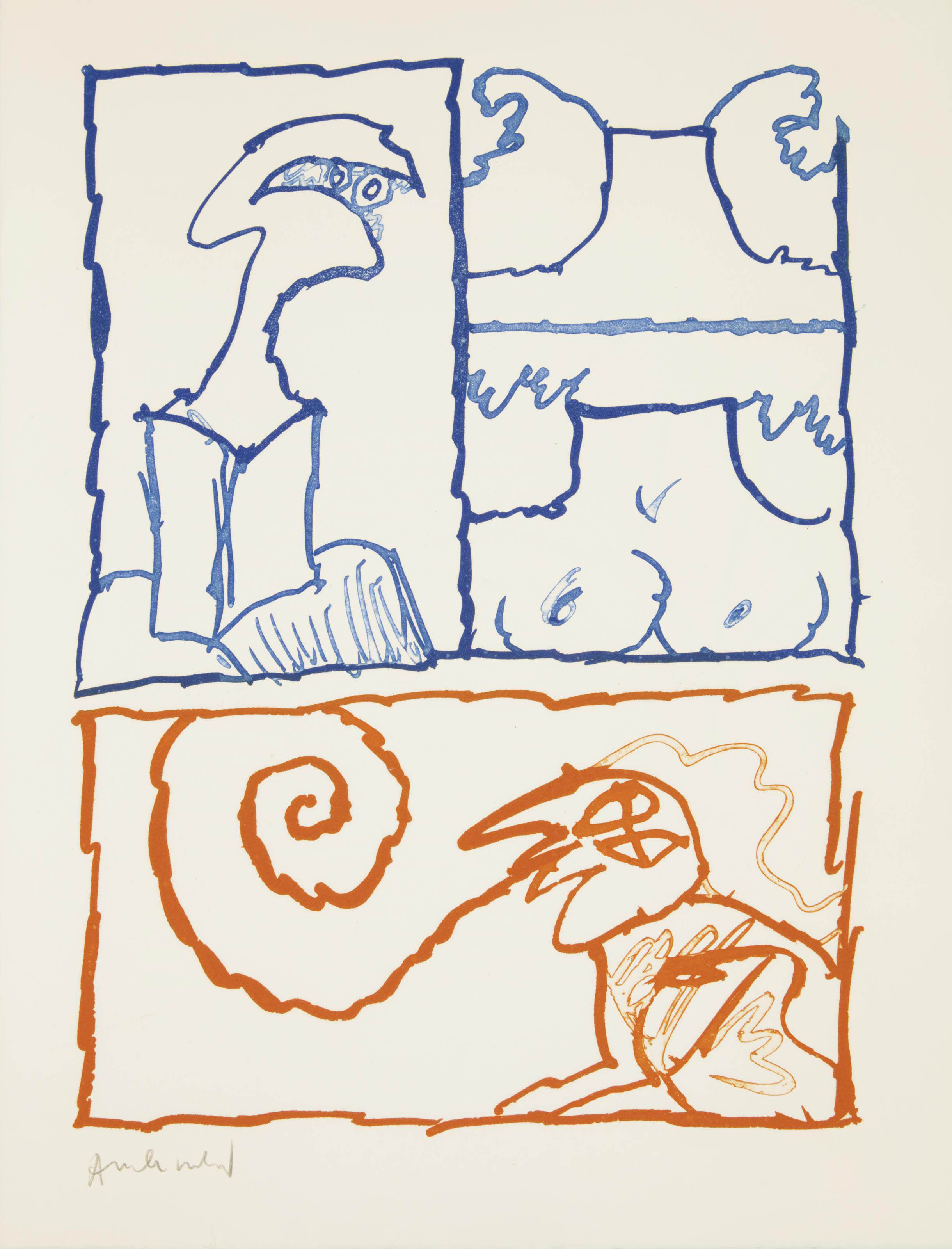 [ALECHINSKY] -- BUTOR, Michel (né en 1926). Le Rêve de l'ammonite. Paris: Éditions Fata Morgana, [1975].
