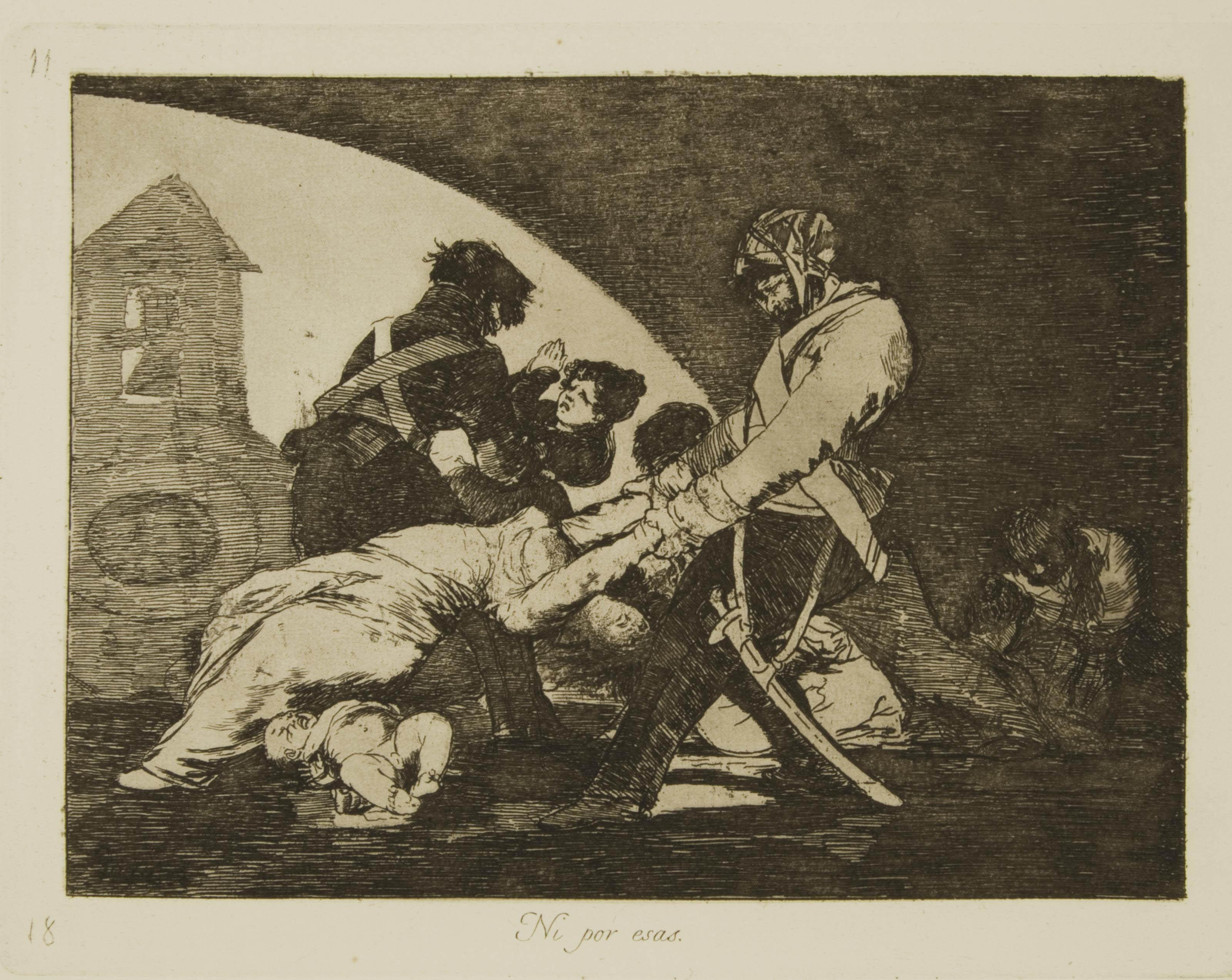 GOYA Y LUCIENTES, Francisco José de (1746-1828). Los Desastres de la guerra. Madrid: Laurenciano Potenciano pour la Real Academia, 1863.