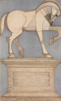 SUBIRACHS, José Maria (né en 1927). Équestre. Lithographie originale signée au crayon dans l'image et justifiée 61/135.