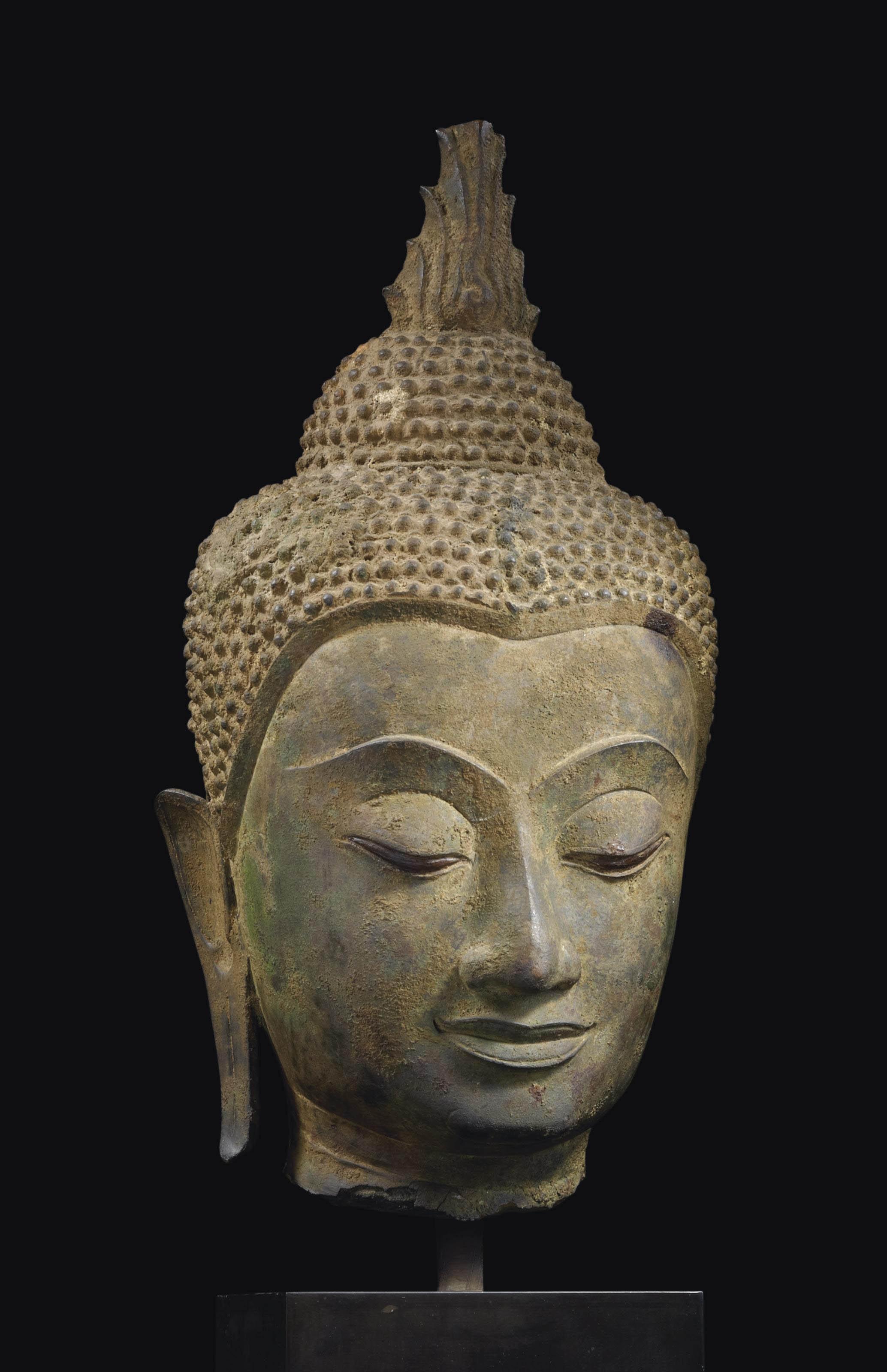 tete de bouddha shakyamuni en bronze thailande style d 39 ayutthaya xvieme siecle christie 39 s. Black Bedroom Furniture Sets. Home Design Ideas