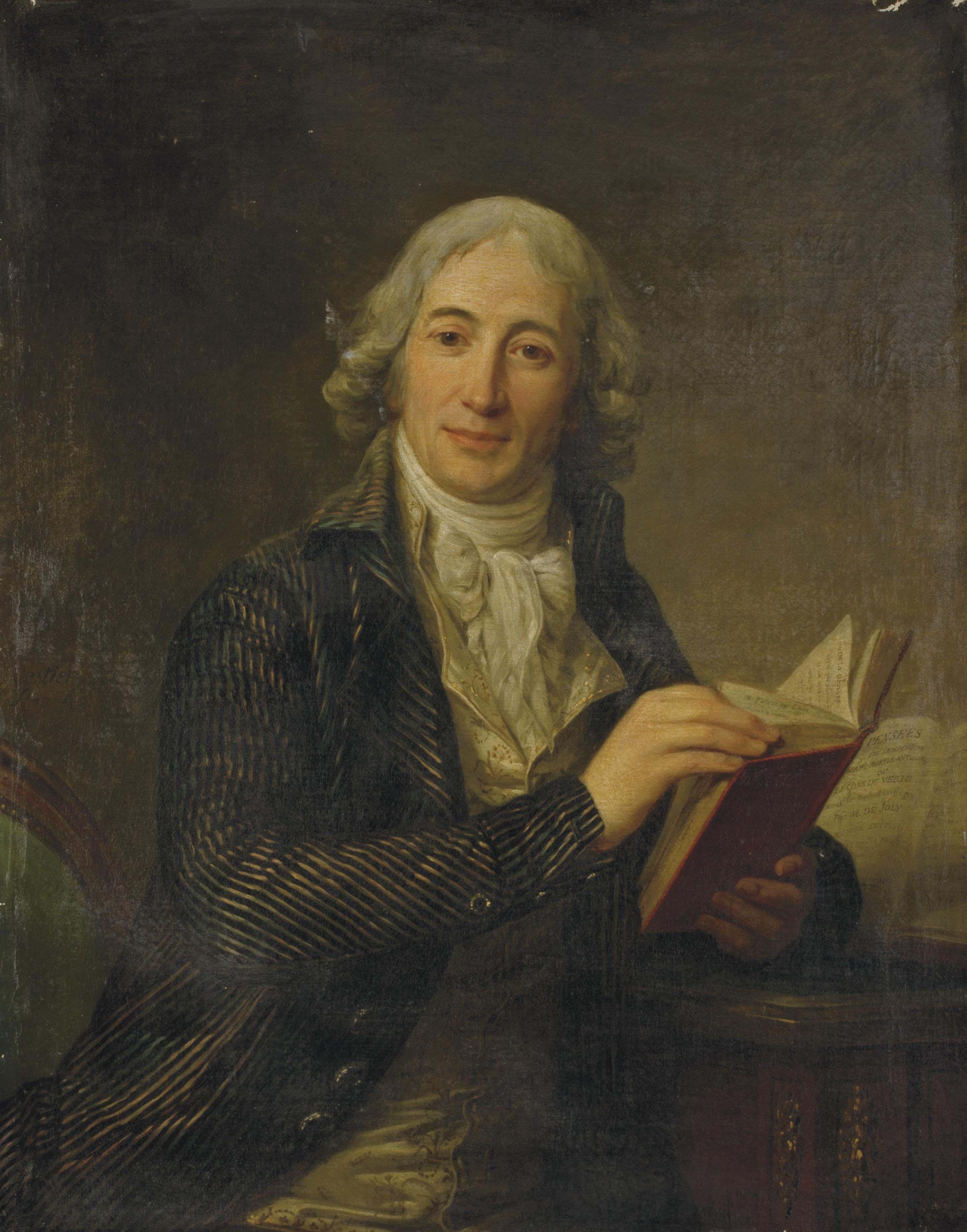 Portrait du Ministre Etienne-Louis-Hector de Joly tenant un livre