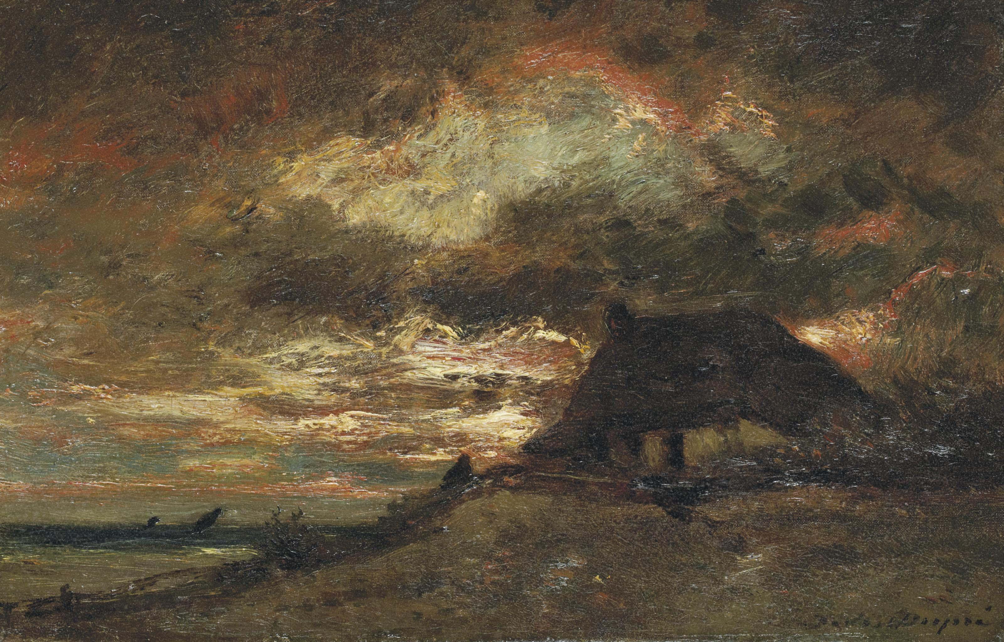Chaumière en bord de mer