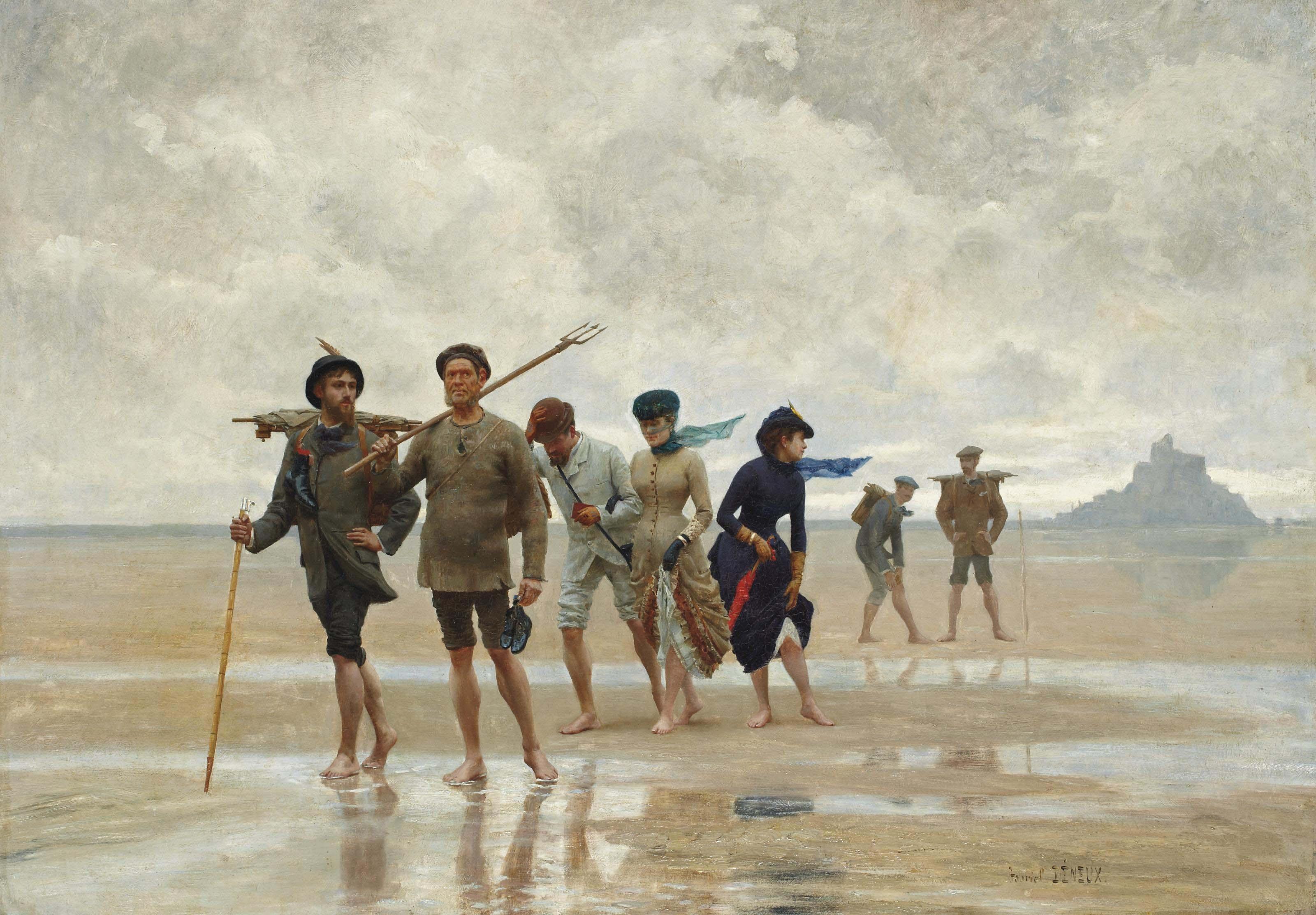 Les peintres de retour du Mont Saint-Michel