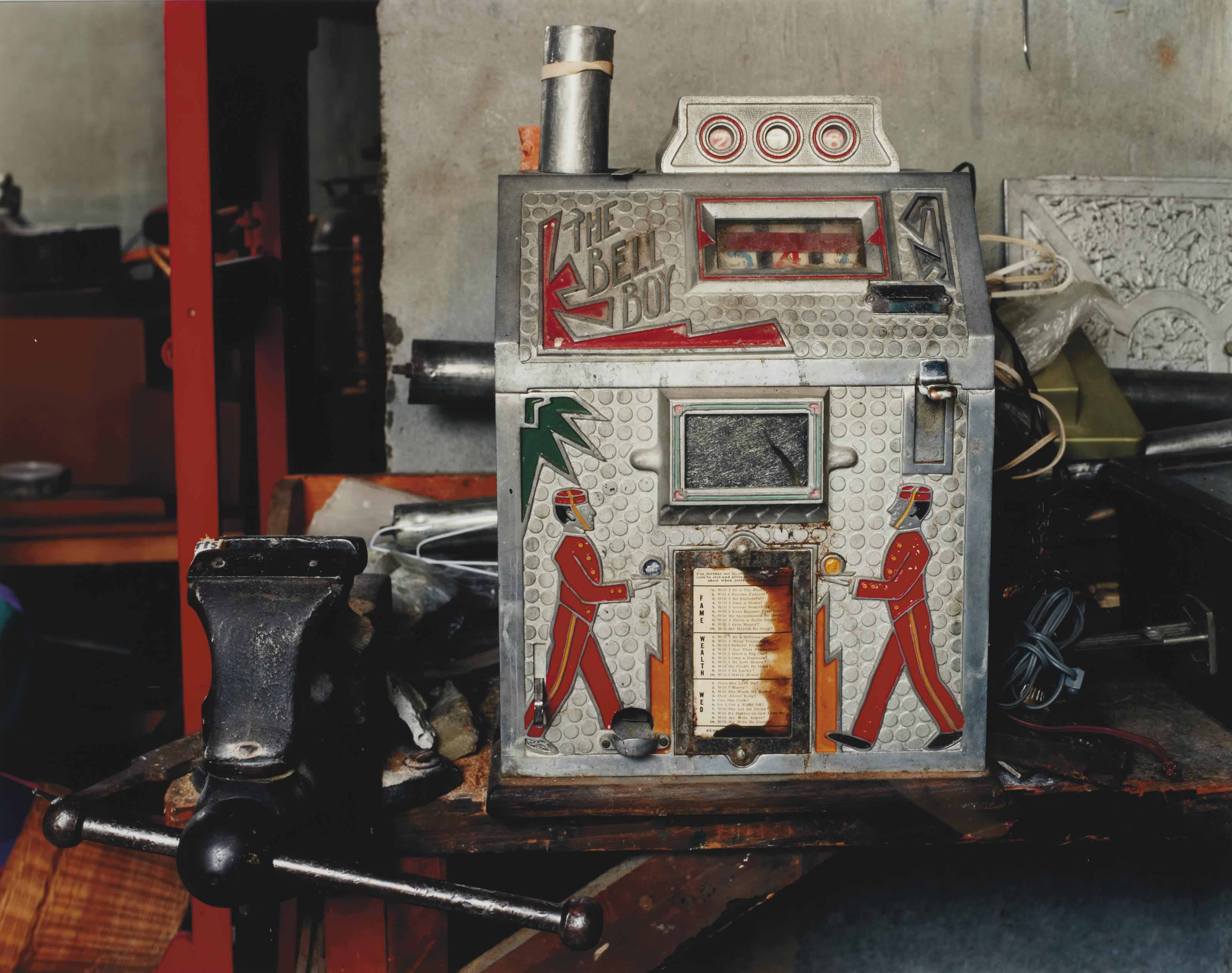 Dad's Basement Workshop, (bell boy game), Holyoke, MA, 2000