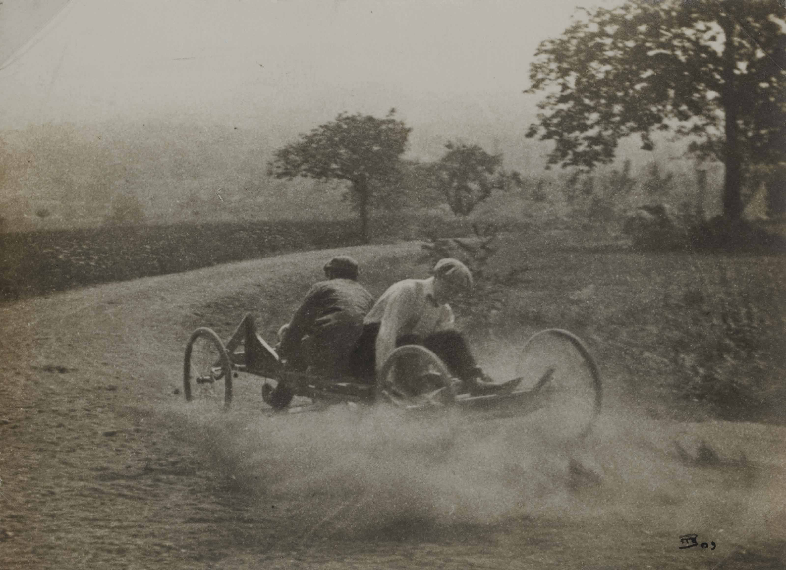Go-cart run, Rouzat, été 1910