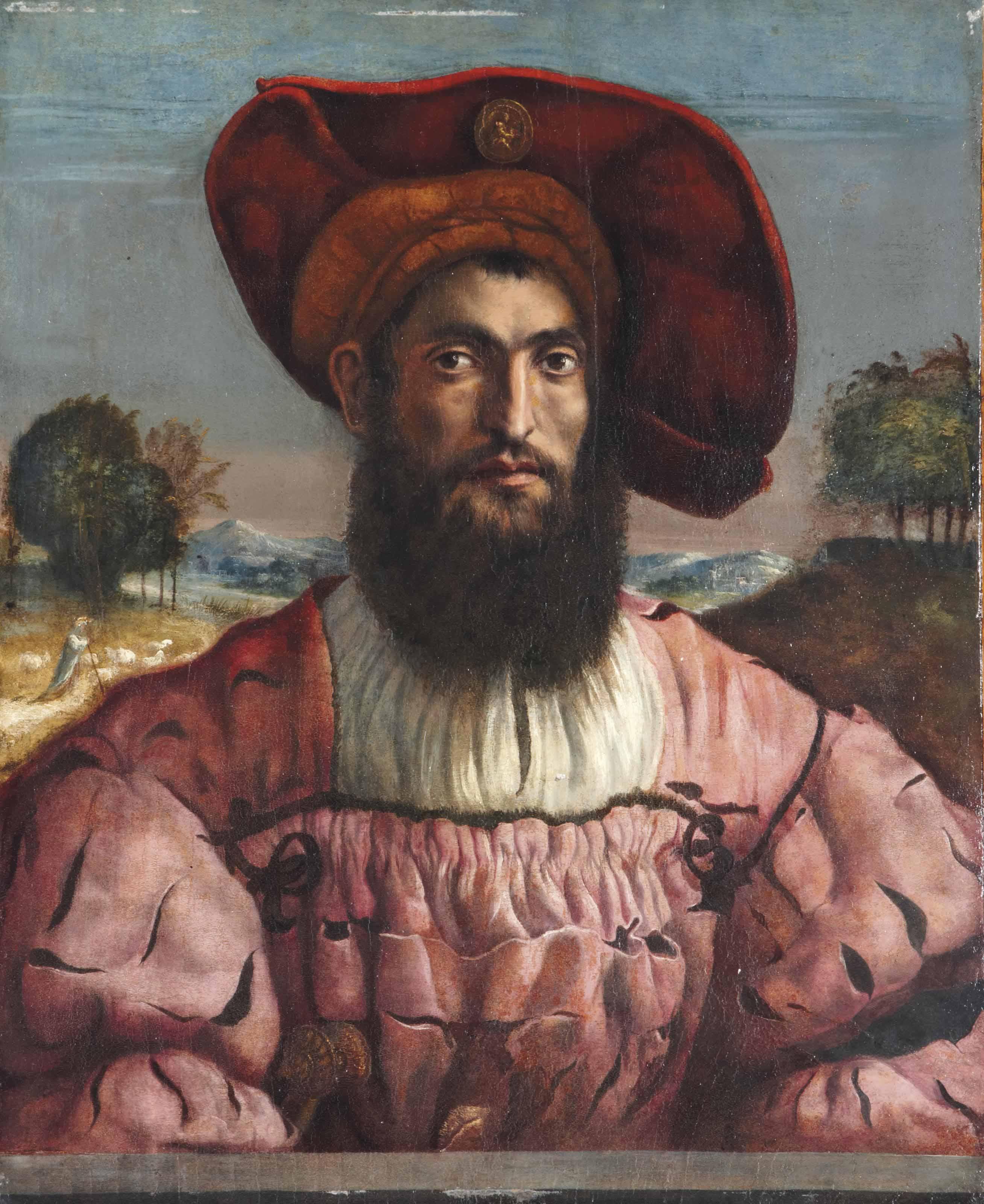 Portrait d'homme en buste à la toque