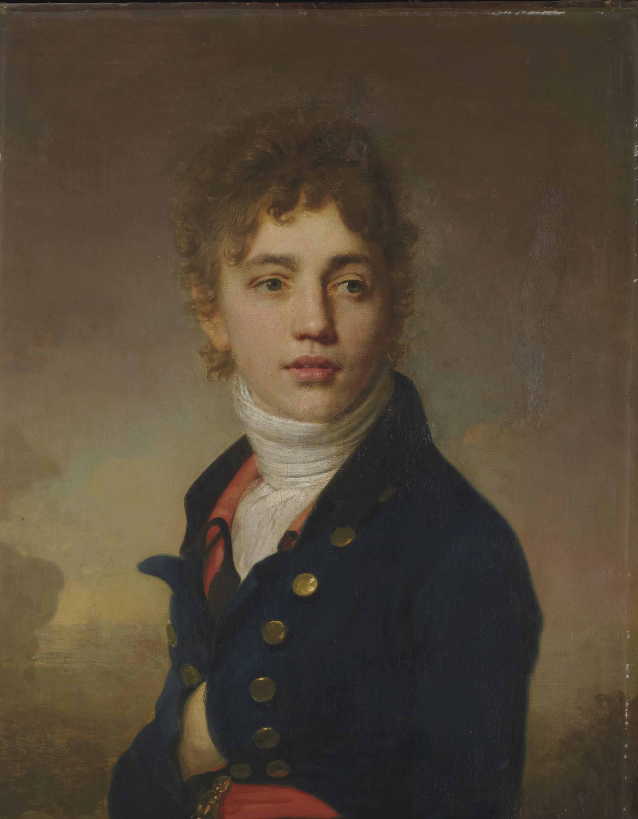 Portrait de jeune homme en buste