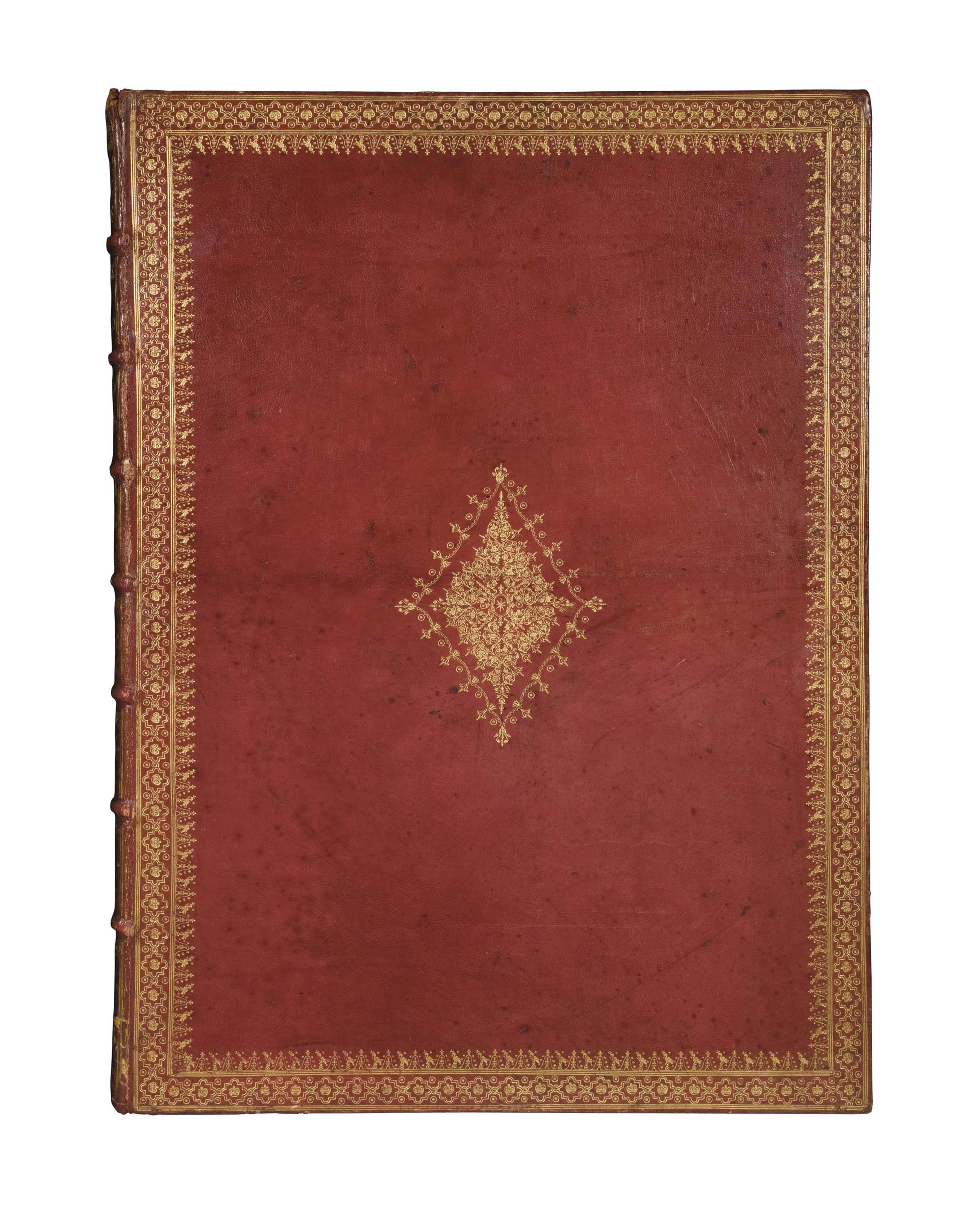 [CABINET DU ROI] -- PERRAULT, Charles (1628-1703). Courses de Testes et de Bague faittes par le Roy, et par les Princes et Seigneurs de sa Cour, en l'année 1662. Paris: imprimerie royale, Sébastien Mabre-Cramoisy, 1670.