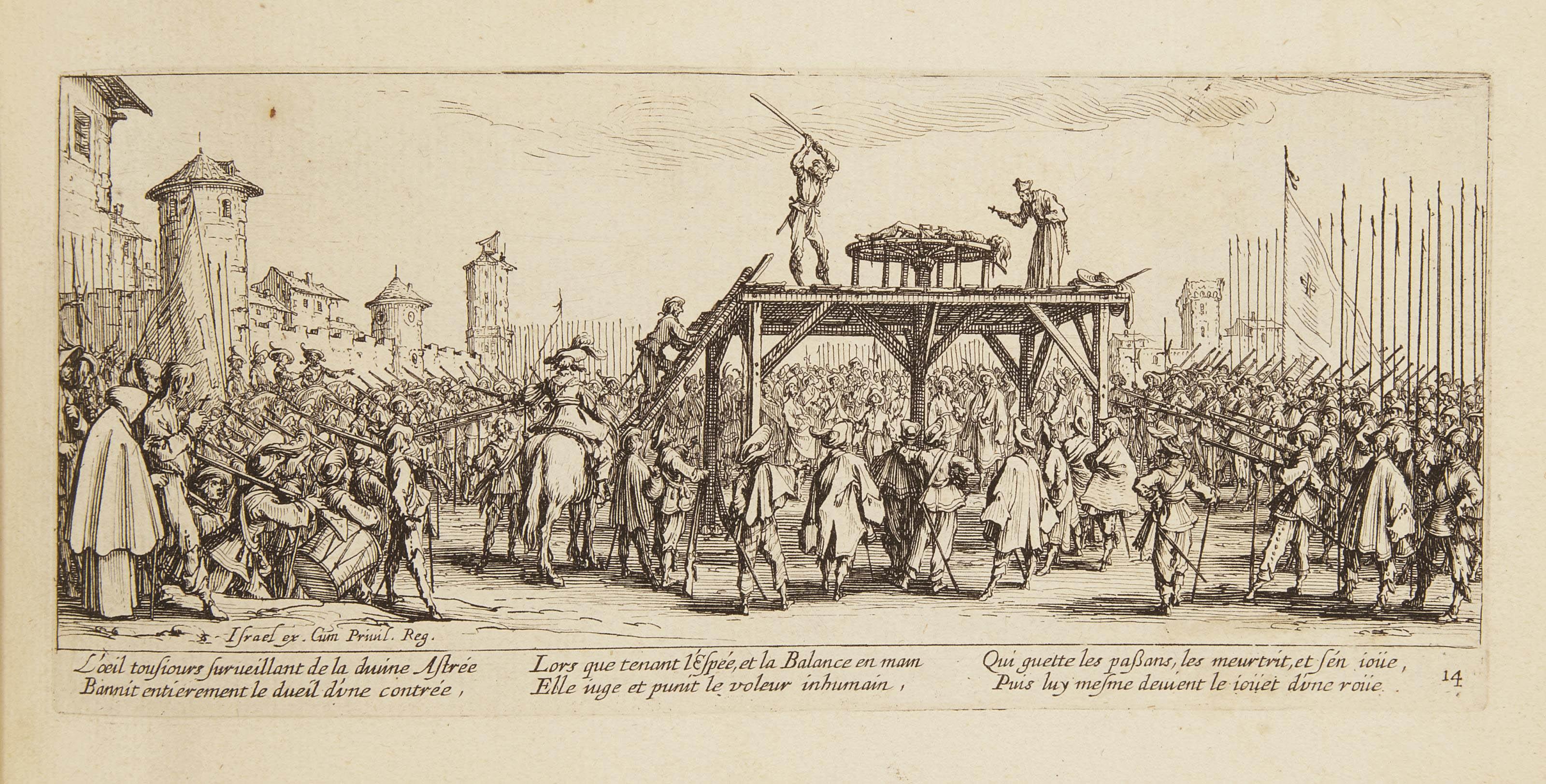 CALLOT, Jacques (1592-1635). Les Misères et les malheurs de la guerre... Mis en lumière par Israel son amy. Paris: 1633.