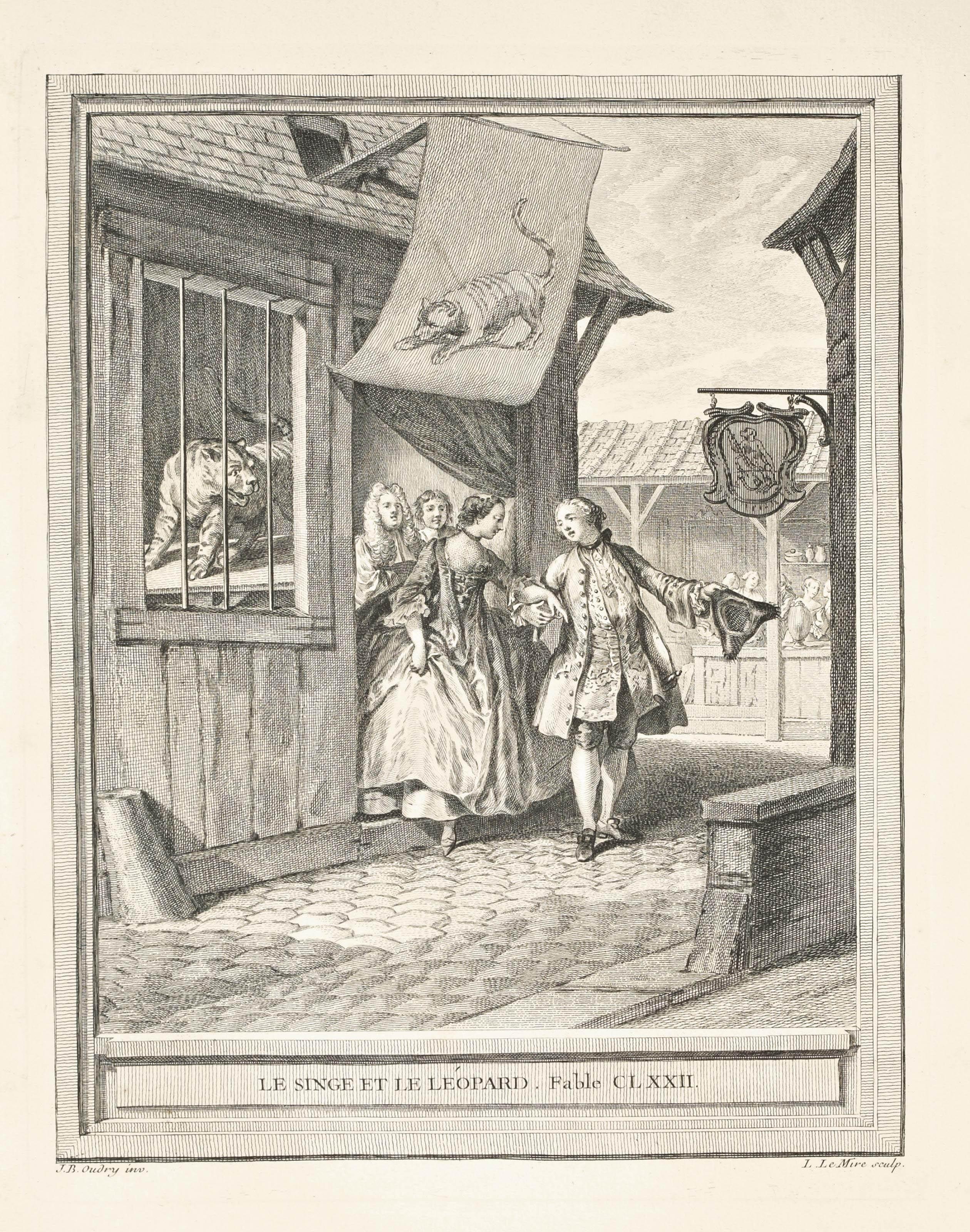 LA FONTAINE, Jean de (1621-1695). Fables choisies, mises en vers. Paris: Charles-Antoine Jombert pour Desaint & Saillant et Durand, 1755-59.