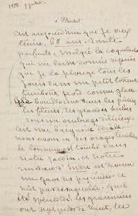 SAND, George (1804-1876). Lettre autographe, non signée, à Gustave Flaubert. [Nohant, 5 juillet 1872].