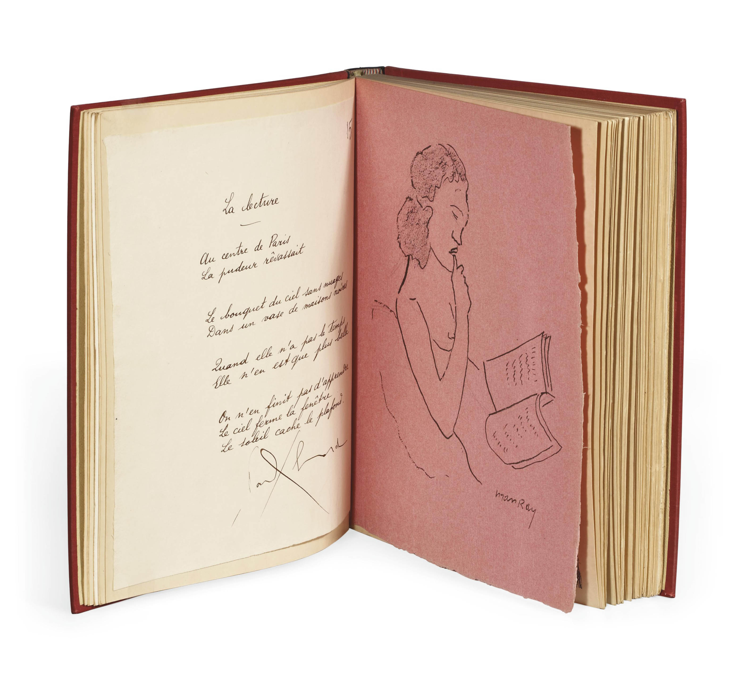 MAN RAY (1890-1976). Les Mains libres. Dessins illustrés par les poèmes de Paul Éluard. Paris: Jeanne Bucher, 1937.