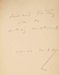 WILDE, Oscar (1846-1900). The Ballad of Reading Gaol by C.3.3. - La Ballade de la geole de Reading. Transcription française de Henry-D. Davray. Paris: Mercure de France, 1898.