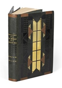 [DARAGNÈS] -- WILDE, Oscar (1854-1900). Ballade de la geôle de Reading par C.3.3. traduite et préfacée par Henry-D. Davray et ornée de bois originaux de Daragnès. Paris: Léon Pichon, 1918.