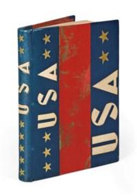"""MORAND, Paul (1889-1977). U.S.A. -- 1927. Album de photographies lyriques. Ornementation de Pierre Legrain. Paris: collection de """"Plaisir de bibliophile"""", 1928."""