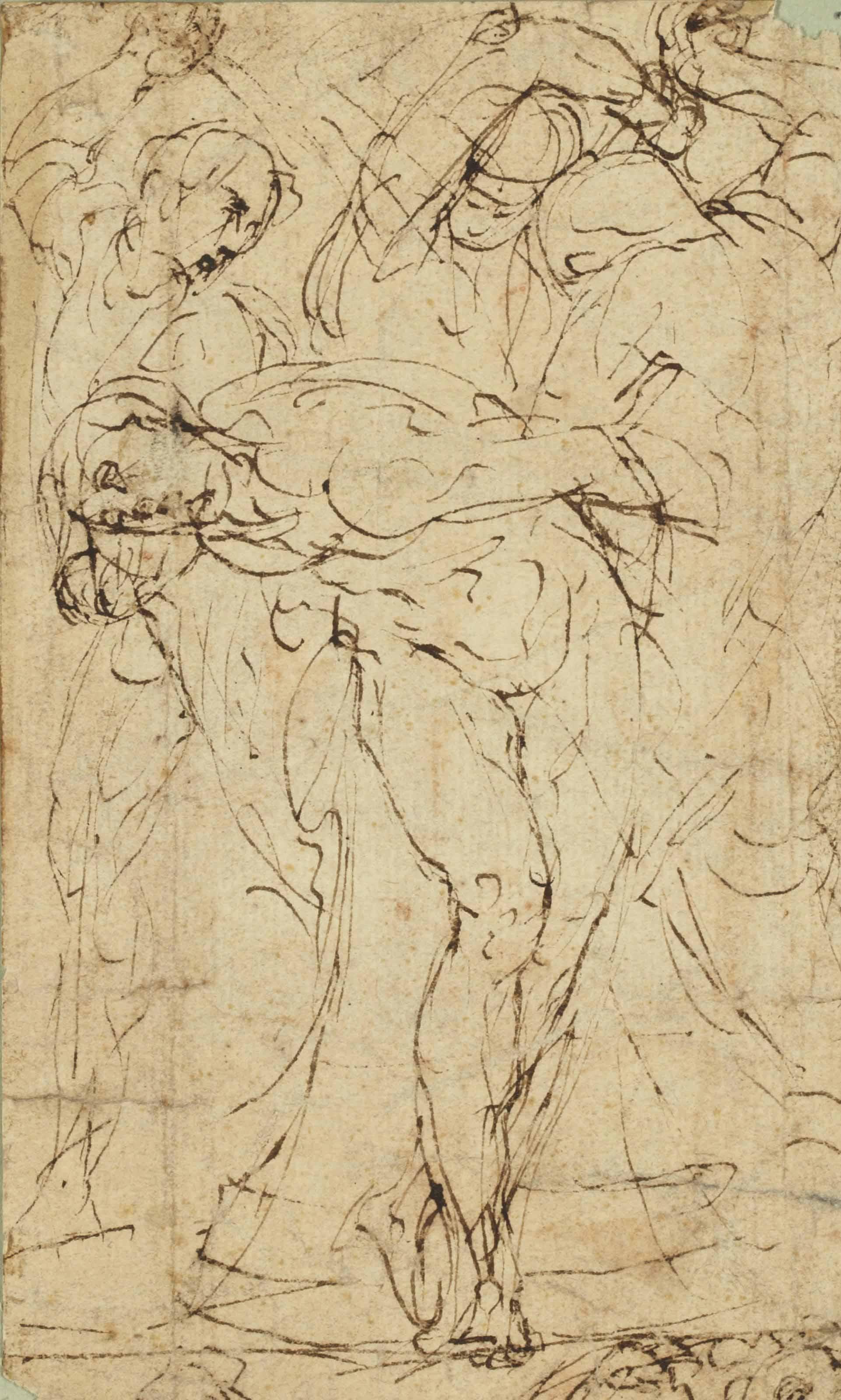 La Flagellation (recto); Croquis (verso)