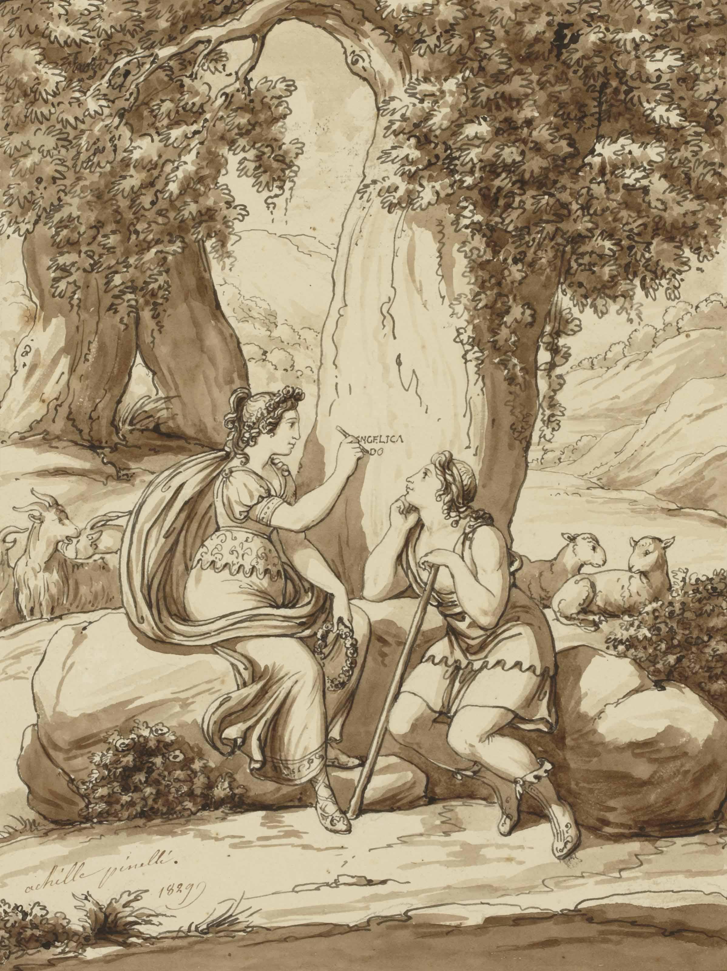 Angélique déclarant son amour à Médor