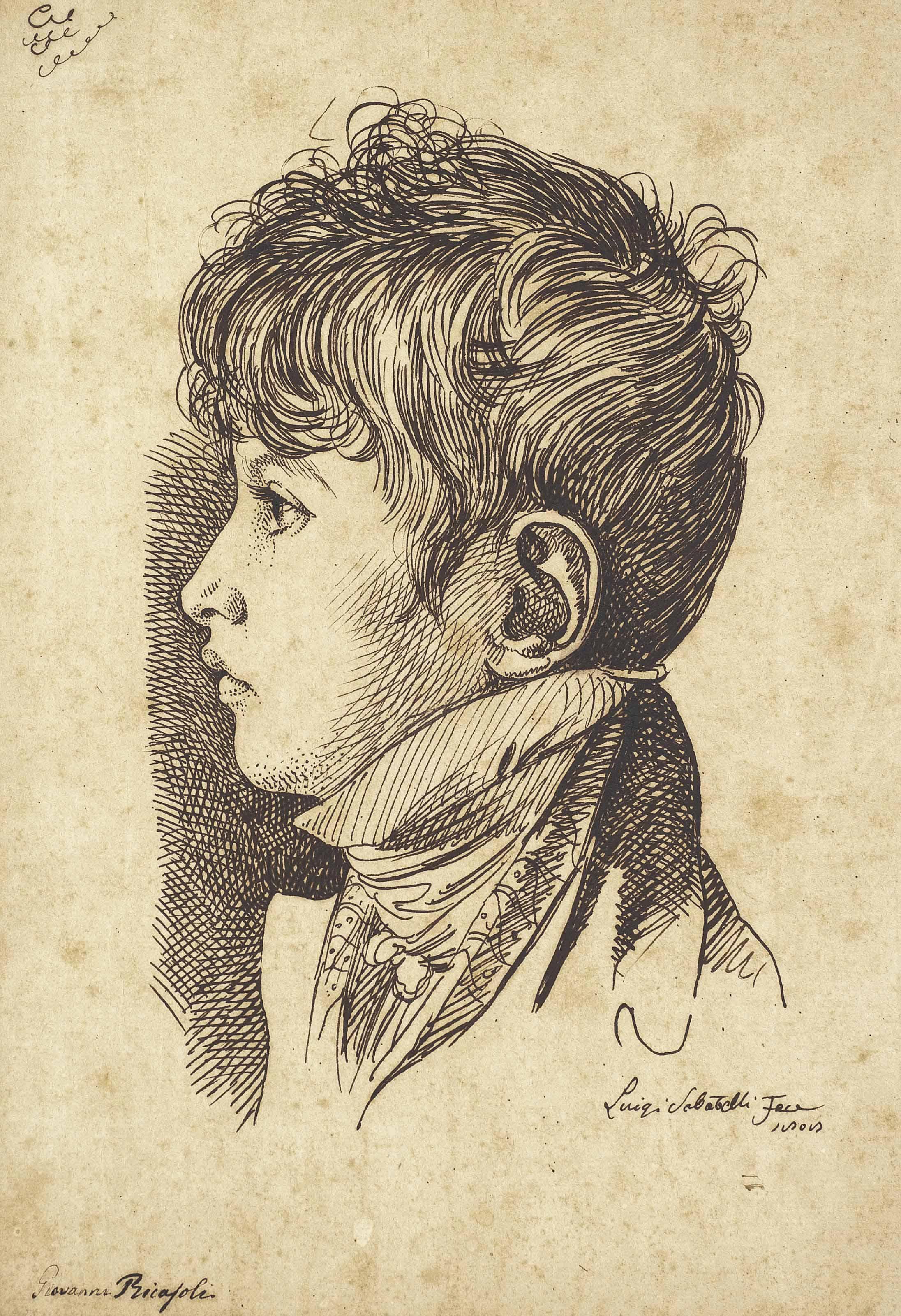 Portrait de Giovanni Ricasoli (1803-1825) à l'âge de cinq ans