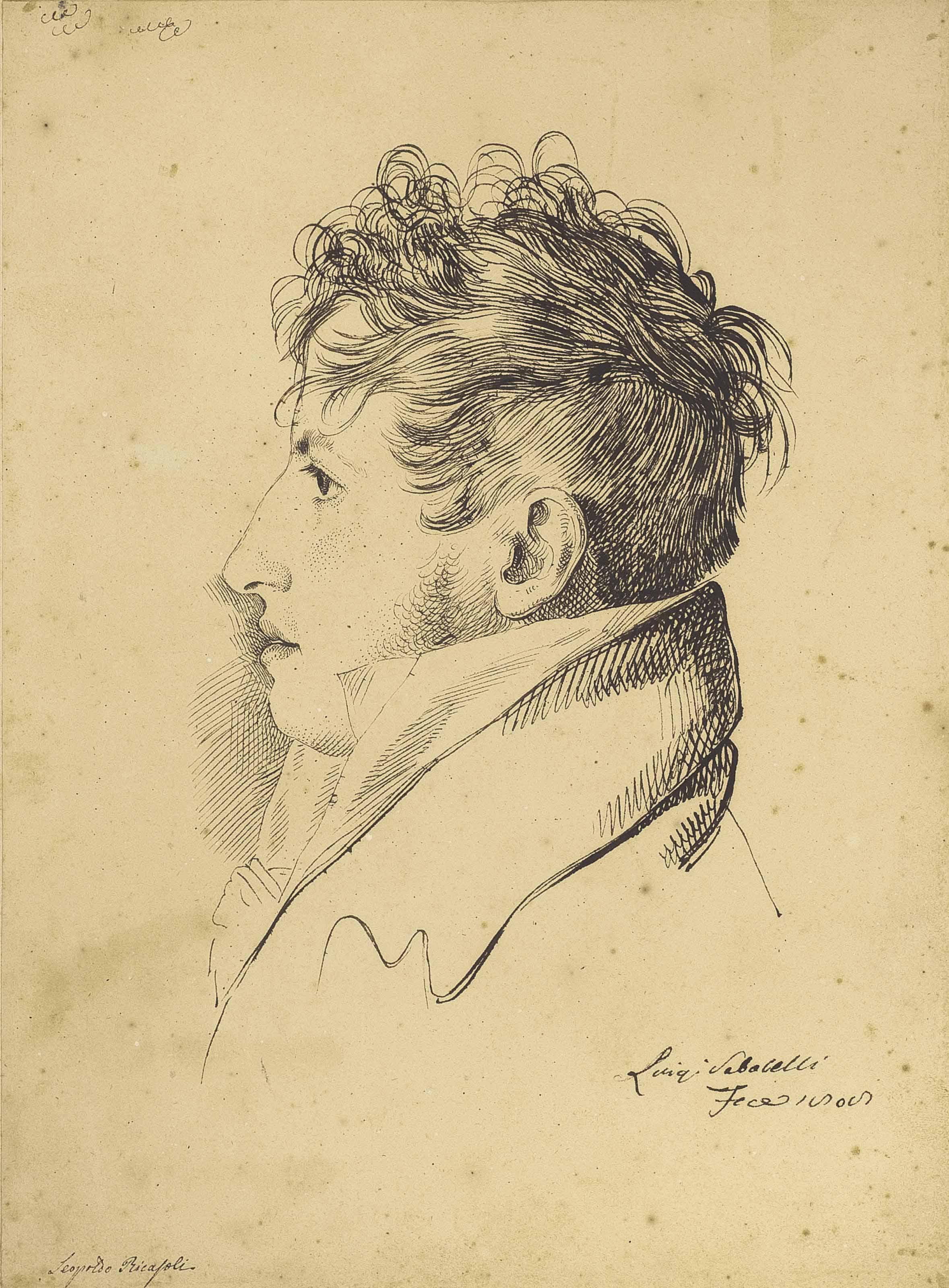 Portrait du marquis Pietro Leopoldo Ricasoli Zanchini (1778-1850)
