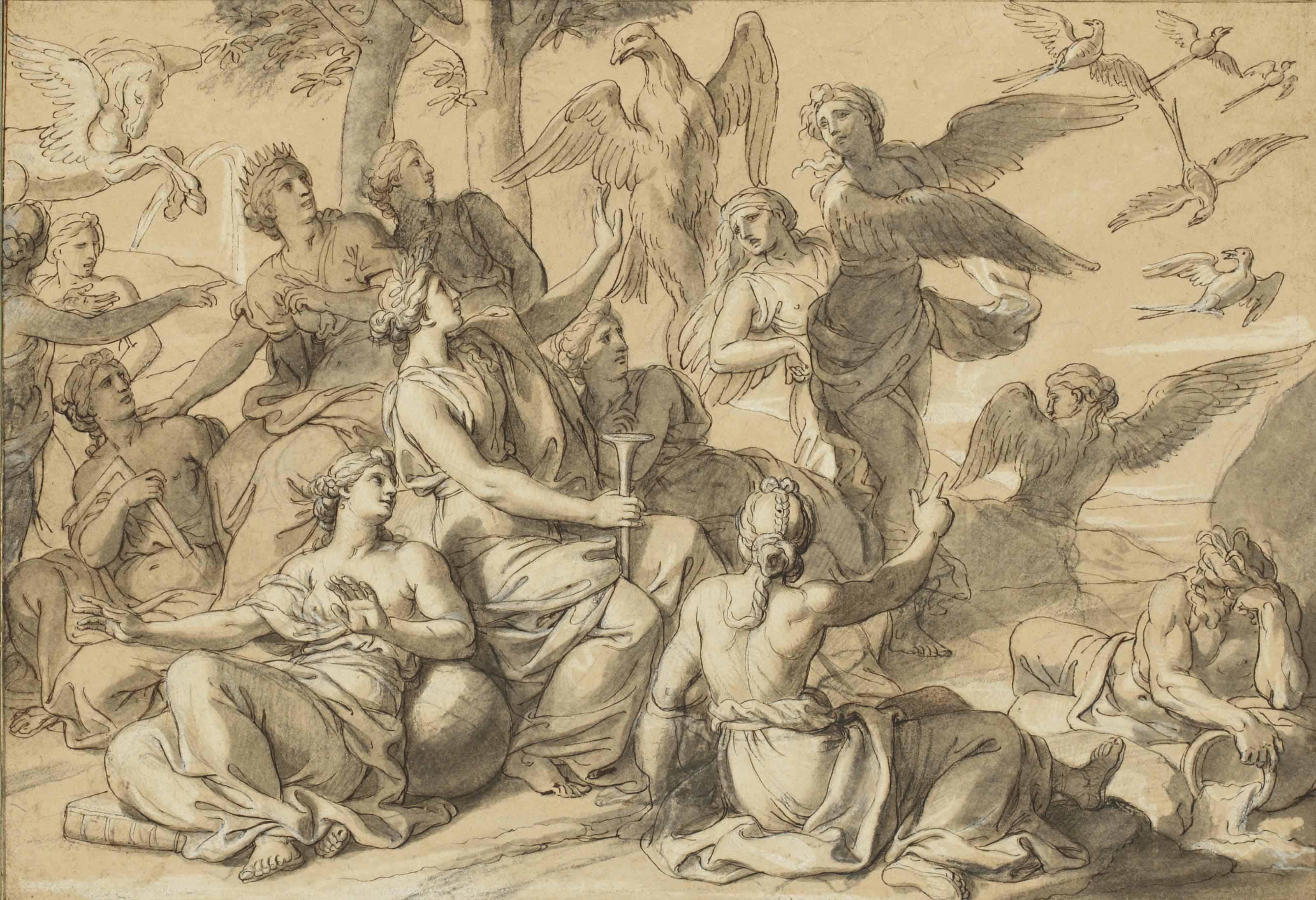 Les Piérides défiant les Muses
